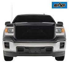 EAG Black Stainless Steel Wire Mesh Packaged Grille For 14-15 GMC ...