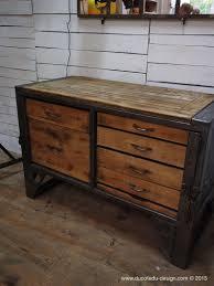 bureau metal et bois grand etabli industriel bureau metal et bois wood and woods
