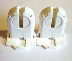 Leviton Shunted Lamp Holder by 2 Of Leviton 13661 Snp Non Shunted Snap In T8 Led Tombstone Lamp