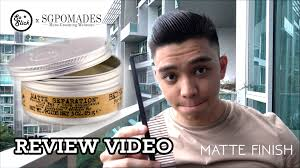 Bed Head Matte Separation Wax by Matte Separation Wax By Tigi Bed Head Review U0026 Styling Youtube
