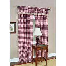 red window scarves valances window treatments the home depot