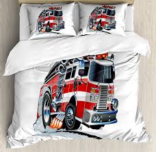 Free Shipping Fire Fighting Truck Bedding Set Children Cartoon Fire ...