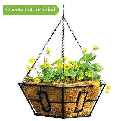 Panacea Hanging Basket, Black, 14 sq in
