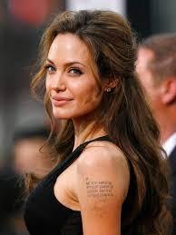 Sacred Fearless Angelina Jolie Tattoo