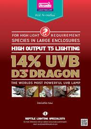 Uv B Lamp For Vitamin D Uk by Arcadia T5 D3 14 Dragon Lamp 24w 22in Fd3d24t5 14 Uvb Strips