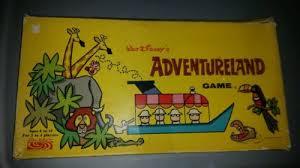Vintage 50S WALT DISNEY ADVENTURELAND Board Game In Box