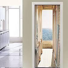 sticker profis türtapete selbstklebend türposter pvc öffne die tür zum meer fototapete türfolie poster tapete 88x200cm schlafzimmer badezimmertür