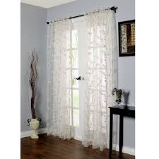 White Sheer Curtains Bed Bath And Beyond by Commonwealth Home Fashions Venice Embroidered Window Curtain Panel