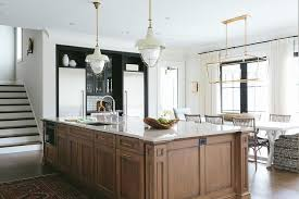 light stained kitchen island design ideas