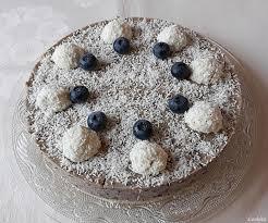 kleine kokos heidelbeer torte