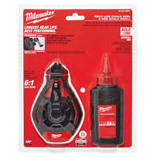 Milwaukee 100 Ft. Bold Line Chalk Reel Kit With Red Chalk-48-22-3986 ...
