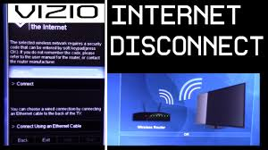 Vizio TV How to disconnect and connect to Internet WIFI