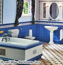 royal blue bathroom sets and accessories hometiens