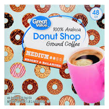 Dunkin Donuts Pumpkin K Cups by Great Value Donut Shop Ground Coffee Single Serve Cups Medium