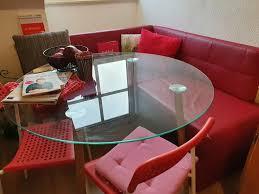 glastisch rund für esszimmer küche