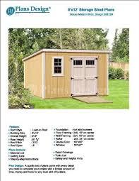 8x12 Storage Shed Blueprints by 8 U0027 X 12 U0027 Deluxe Back Yard Storage Shed Project Plans Do It