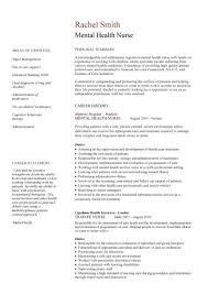 Mental Health Nurse CV Sample Career History Resume Example Template Nursing Jobs