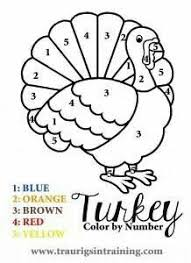 A Fun And Simple Color By Number Page For Thanksgiving Other FREE Coloring Pages Mas
