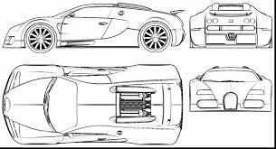 Spectacular Bugatti Veyron Blueprint With Coloring Pages And 16 4