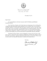 Special Letter from New York City Mayor Michael Bloomberg