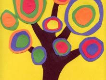 Art And Craft Ideas For Teachers Inspirational Kandinsky Tree Out Of Construction Paper Projects