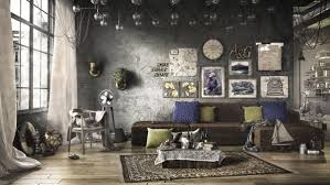 Rustic Industrial Living Room Decor