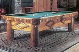 Glacier Rustic Log Pool Table Customize This