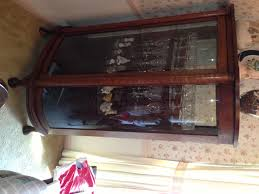 Curved Glass Curio Cabinet by Antique China Cabinets 1900s Roselawnlutheran