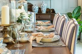 luxury table set in classic style dining room interior