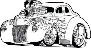 Coloring Book Pages Cars 2 Rod Car Playing Cards