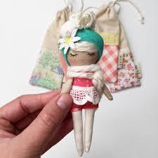 Stunningly Original Handmade Mini Mini Doll Mend By Ruby Grace