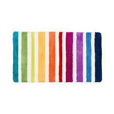 badteppich stripes bunt badematten mehrfarbig pacific