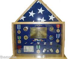 Small Military Badge Medal Flag Challenge Coin Display Case Shadow Box