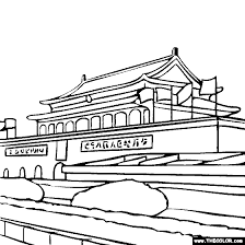 Forbidden City Beijing China Coloring Page