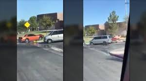Watch This Mustang Driver Go On A Rampage Outside Of A Las Vegas ...