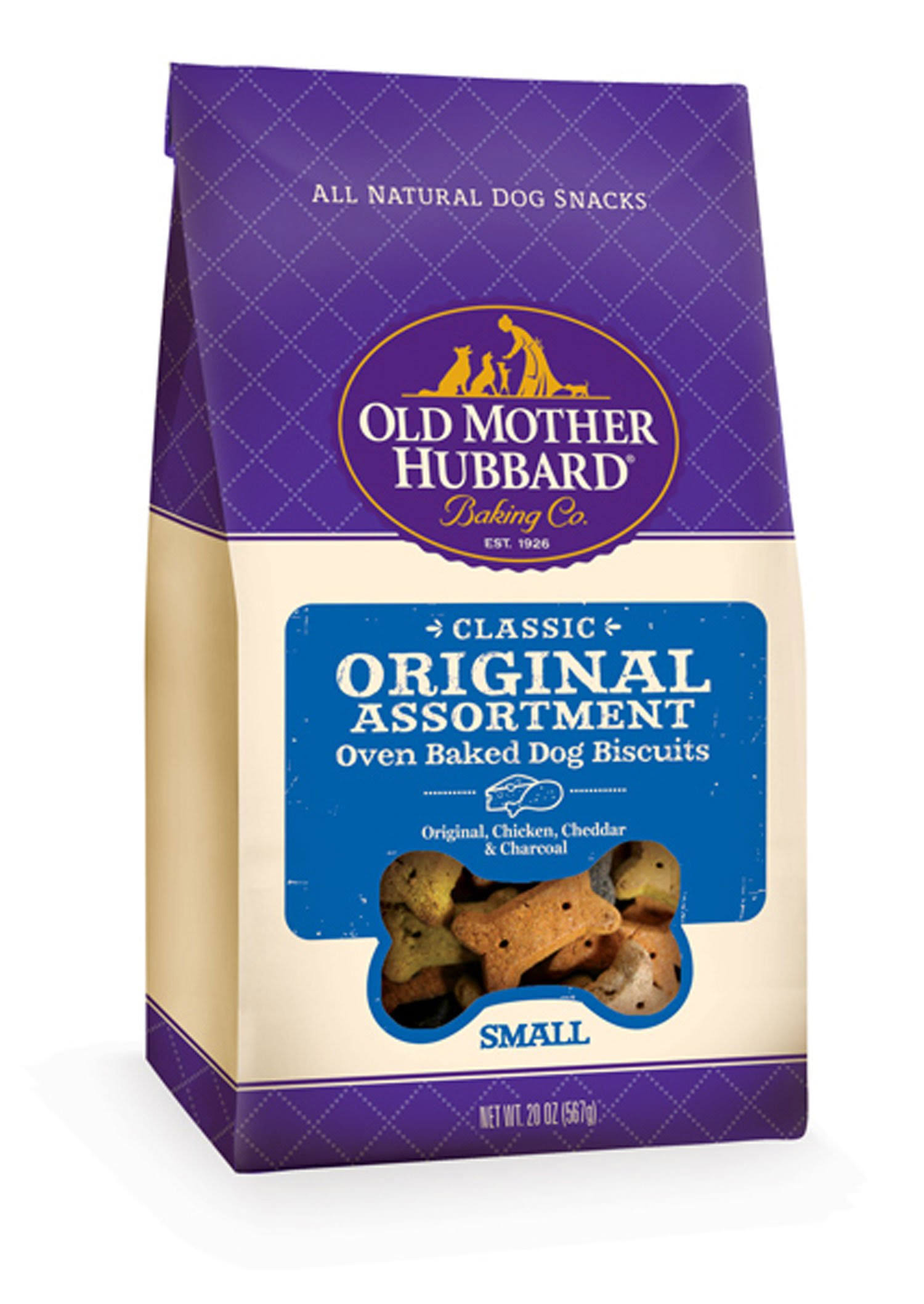 Old Mother Hubbard Dog Biscuits - Small, Chicken Cheddar And CharTar