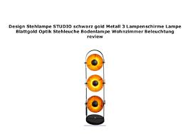 design stehle studio schwarz gold metall 3 lenschirme