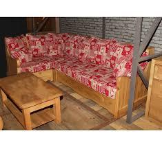 canap bois et tissu canape d angle tissu alaska 3332