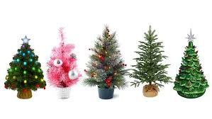 Tabletop Pre Lit Christmas Tree Desktop Mini Walmart