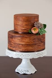 A Rustic Two Tier Wedding Cake Blogger