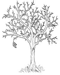 In Tree Without Leaves Coloring Page
