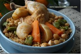 recette cuisine couscous tunisien couscous de boulghour au poulet les joyaux de sherazade