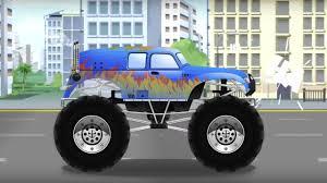 100 Blue Monster Truck Cars For Kids The Kids Channel KC Power