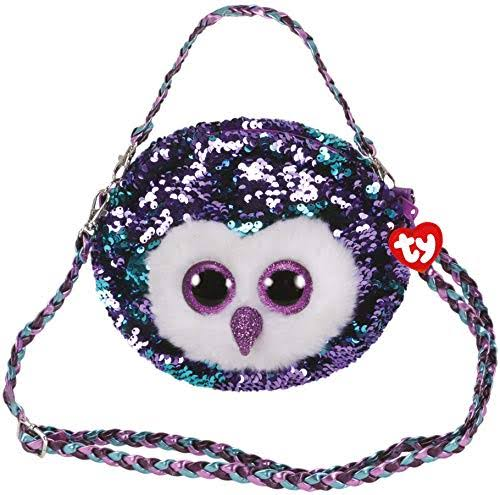 Ty Moonlight The Owl Fashion Flippy Sequin Purse