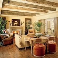 Living Room Rustic Cottage Fabric Sofa White Best Interior Design Beige Fur Rug Cute