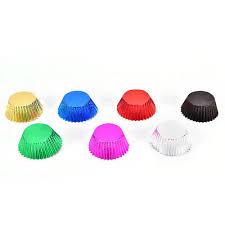 100pcs Foil Metallic Cupcake Case Liners Baking SPffin Paper Cases SP