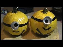 Minion Carved Pumpkins by How To Despicable Me Minion Duct Tape Pumpkin No Carve