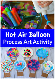 Hot Air Balloon Process Art Activity Dr Seuss