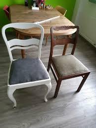 2 alte stühle aus echtholz für küche oder deko