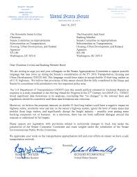 Bipartisan Dear Colleague Letter from Senators Wicker and